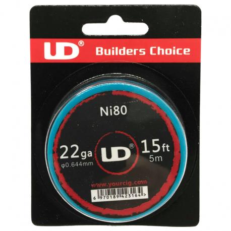 UD Roll Coils Ni80 22GA (0.65mm) 5m