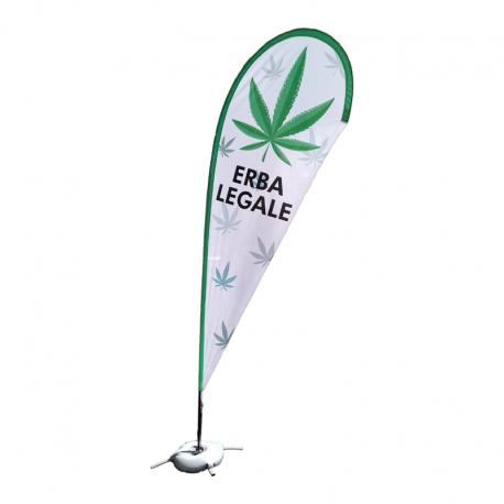 Bandiera Esposizione ERBA LEGALE