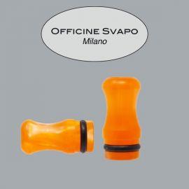 Officine Svapo Milano - Drip Tip Mod. CALIPSO Metacrilato Arancio Madreperla