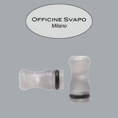 Officine Svapo Milano - Drip Tip Mod. CALIPSO Metacrilato Grigio Chiaro Madreperla