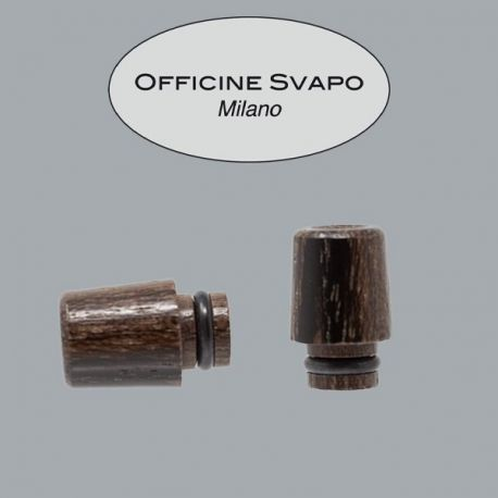 Officine Svapo Milano - Drip Tip Mod. ARGO Legno ZIRICOTE Scuro