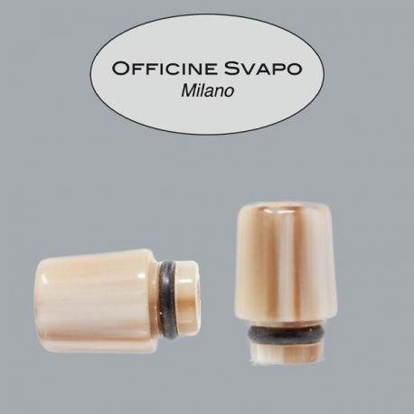 Officine Svapo Milano - Drip Tip Mod. ARGO Corno Marrone chiaro/scuro.