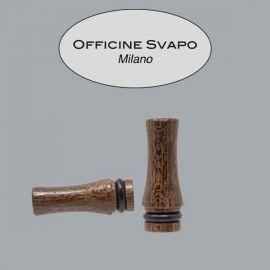 Officine Svapo Milano - Drip Tip Mod. ZEUS Ziricote Corto Tondo