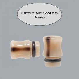 Officine Svapo Milano - Drip Tip Mod. OFFICINE Corno Marrone Chiaro/Scuro