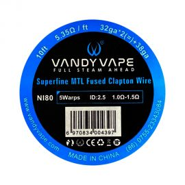 Vandy Vape - Superfine MTL Fused Clapton Wire 32x2 + 38 ga