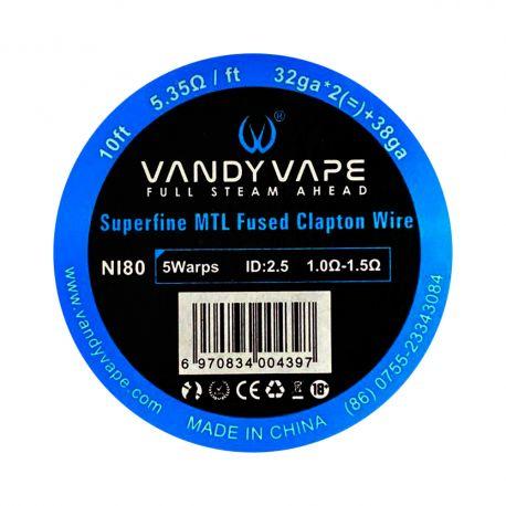 Vandy Vape - Superfine MTL Fused Clapton Wire 32x2 + 38 ga